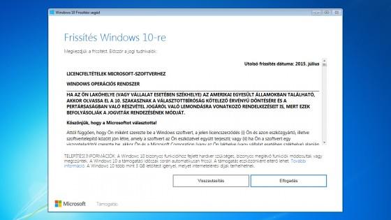 Nincs akadálya az ingyen Windows 10-re frissítésnek - fókusz