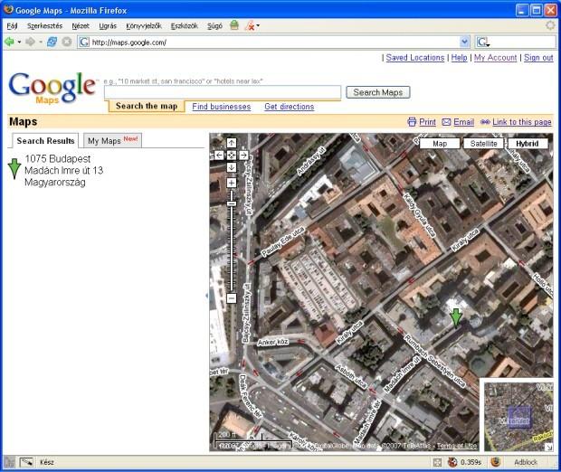 Google Maps Utcakereso Itthon Hir Computerworld