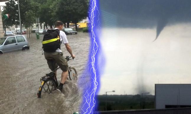 Tornádó Dunaújvárosban, Budapestet ellepte a víz