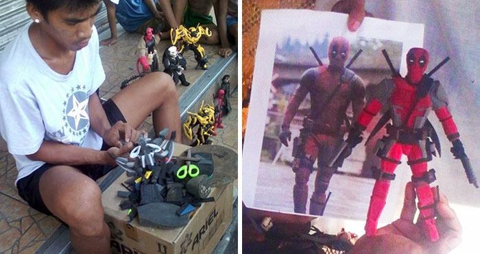Strandpapucsokból is készülhetnek menő szuperhősös figurák