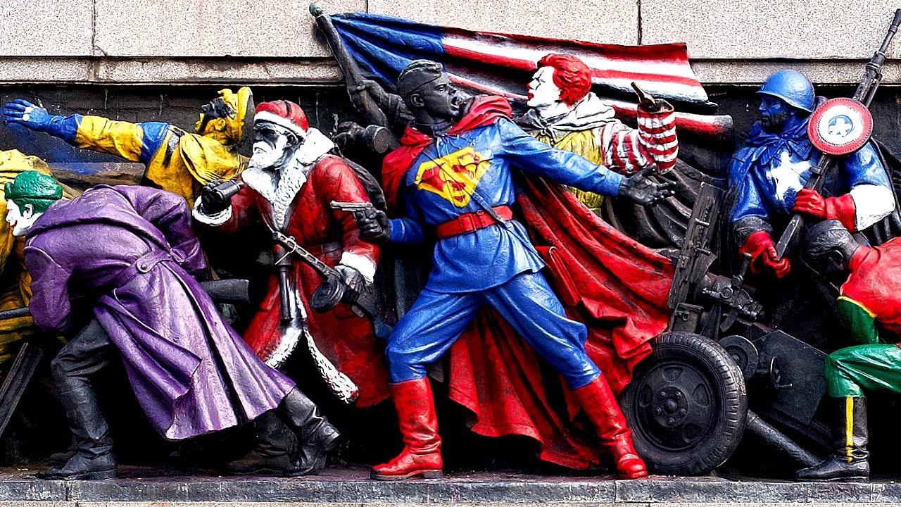 Amerikai szuperhősökké változtak Bulgária szovjet emlékművei
