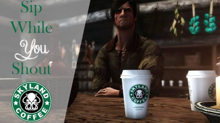 Napi büntetés: ez a Skyrim mod Starbucks poharakat hagy az asztalokon bevezetőkép