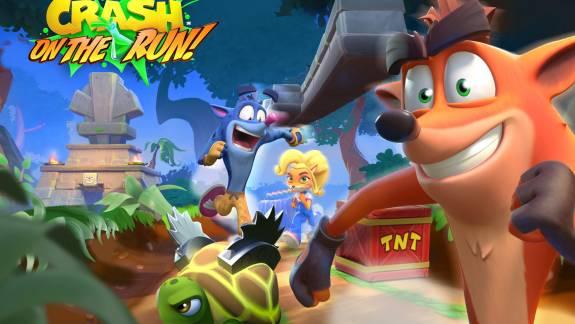Megjelent a Crash Bandicoot: On the Run!, mobilon is lehetünk sávos bandikutok kép