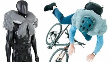 Bicajosok, figyelem: jön a légzsákká alakuló hátizsák kép