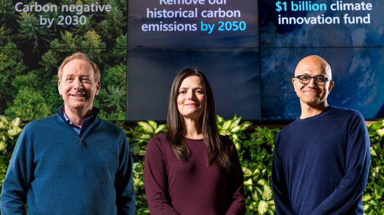 A Microsoft felveszi a küzdelmet a klímaváltozással szemben bevezetőkép