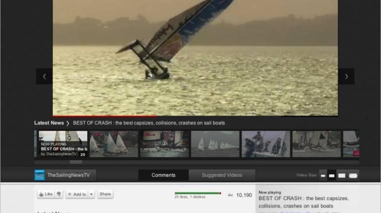 Új külsővel kísérletezik a YouTube kép