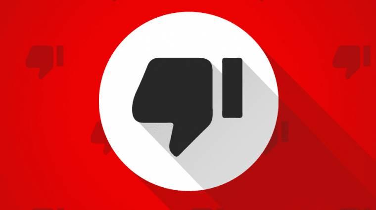 A YouTube kísérleti jelleggel elrejti a dislike-okat