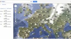 Időjárás-adatokkal bővült a Google Maps kép