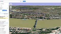 Helikopter 3D útvonal előnézet a Google Maps-ben kép