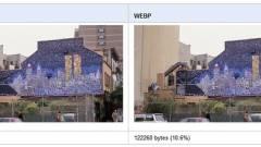 Google: JPEG helyett WebP kép