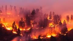 A NASA műholdas felvételei jól mutatják, milyen hatalmas az amerikai erdőtűz kép