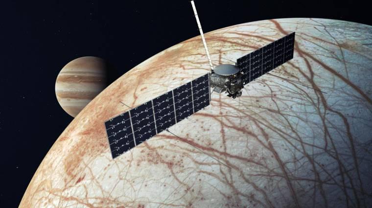 Döntött a NASA: Elon Musk vállalata juttathatja el az Europa Clipper űrszondát a Jupiter holdjához kép