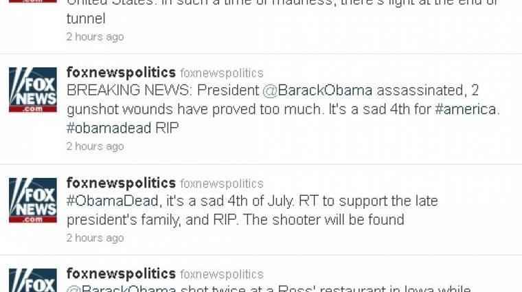 Obama halálhírét csiripelték kép