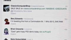 Twitter üzenet Commodore 64-ről kép
