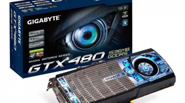 Gyorsteszt: Gigabyte GeForce GTX 480 kép