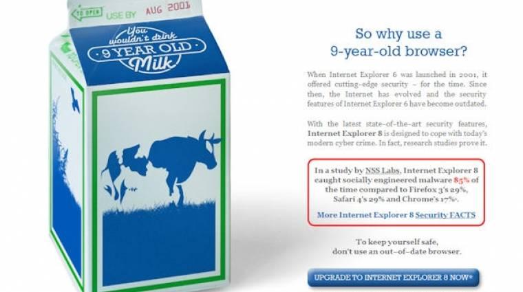 Népszerűbb lett az Internet Explorer kép