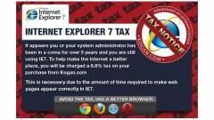 Adót vetettek ki az Internet Explorer 7-re kép