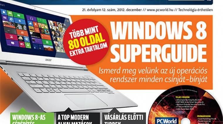 Windows 8 Superguide a decemberi PC World-ben kép