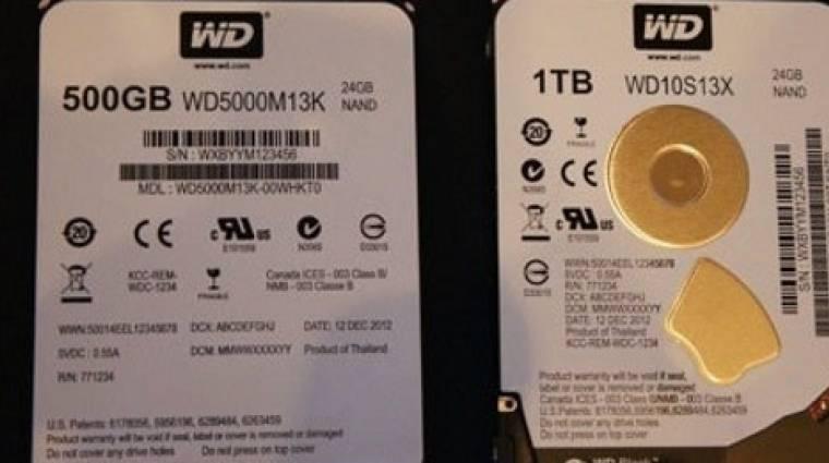 Black szériás hibrid HDD a WD-től kép