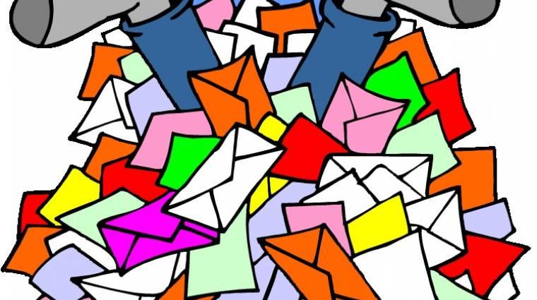 10-ből 1 ember egyetlen e-mailt sem töröl kép