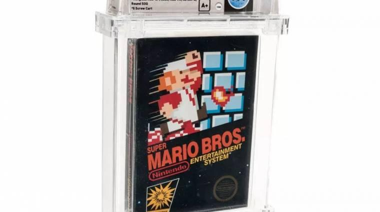 Egy árverésen minden eddigi rekordot megdöntő összegért kelt el egy Super Mario Bros. bevezetőkép