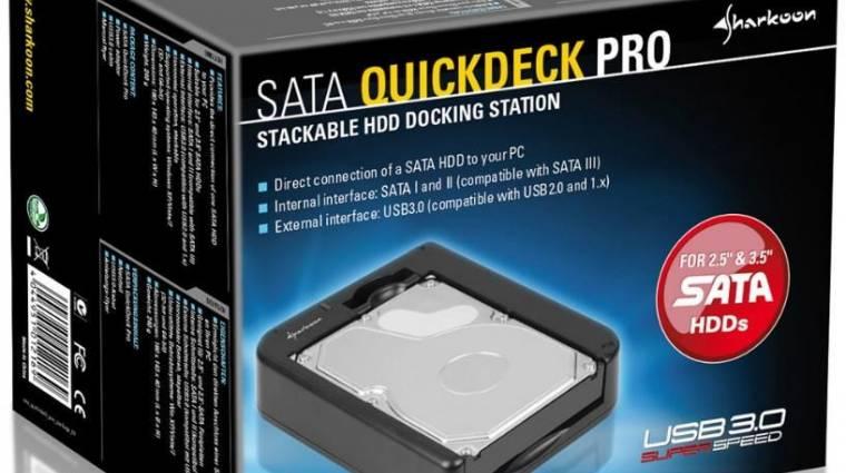 Fekvő, USB 3.0-ás HDD-dokkoló a Sharkoontól kép