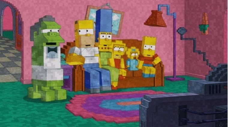 A The Simpsons a Minecraft előtt tiszteleg bevezetőkép