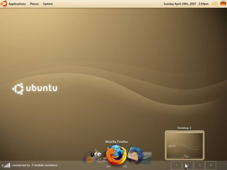 Hagyományos Ubuntu desktop