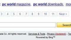 A tengerentúlon a Yahoo mától Bing kép