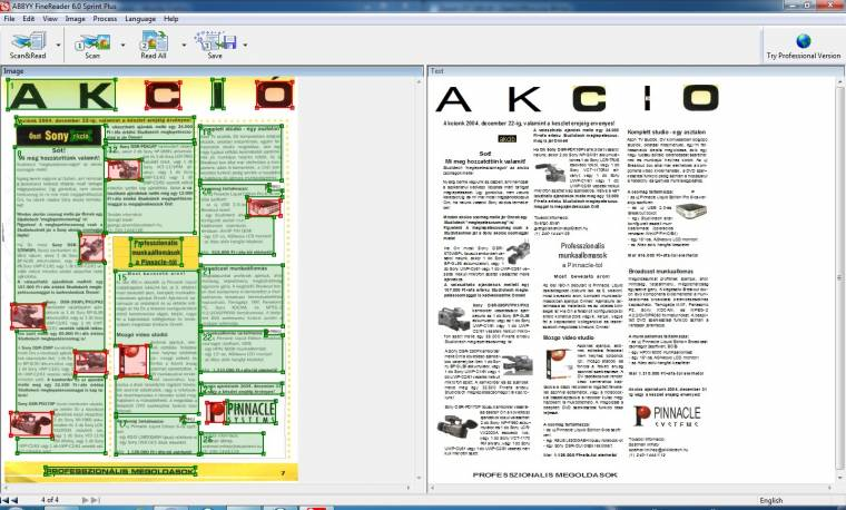 FineReader a precíz dokumentum OCR-hez
