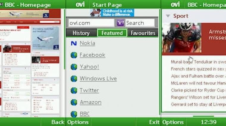Tölthető a Nokia S40-es webböngészője kép