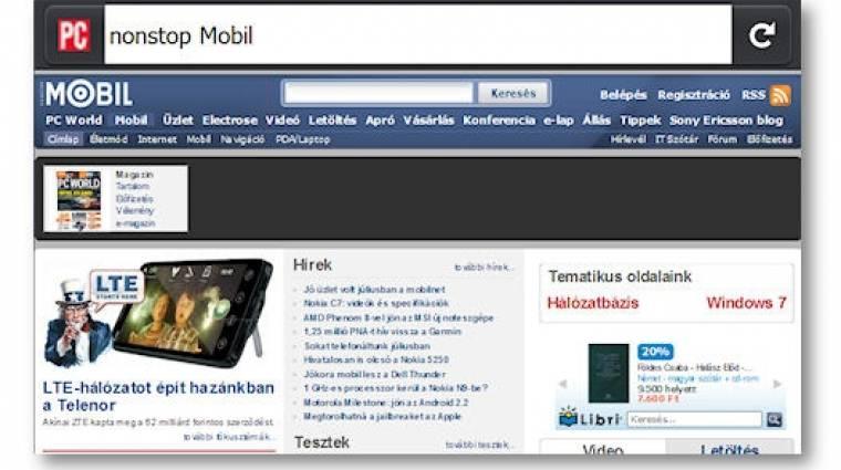 Androidon is megy a Mozilla Fennec kép