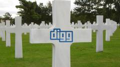 Aprópénzzel temetik a Digg-et kép