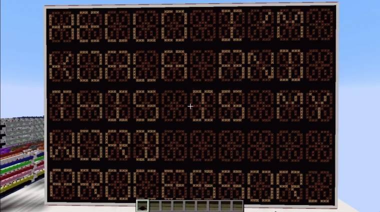 Minecraft - már működő szövegszerkesztőt is építettek bevezetőkép