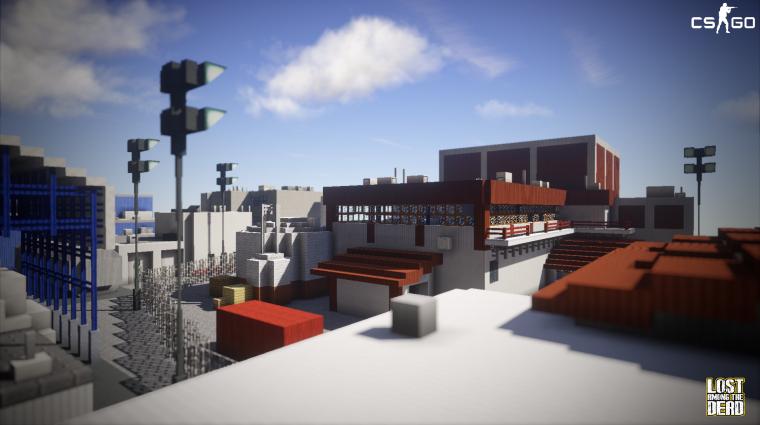 Megépítették a CS:GO egyik legismertebb pályáját Minecraftban bevezetőkép
