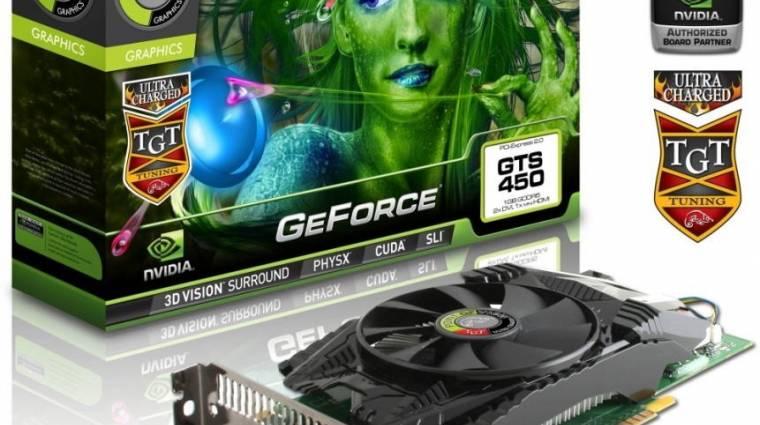 Erősebb GeForce GTS 450-ek a Point of View-tól kép