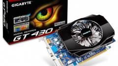 Gigabyte GeForce GT 430 dual slotos hűtővel kép