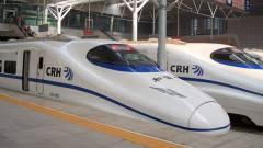 Kínáé a világ leggyorsabb, menetrend szerint közlekedő vasútja kép