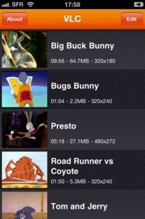 VLC Media Player (Apple iOS)