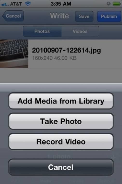 WordPress for iPhone 2.6
