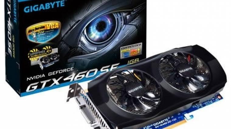Gigabyte GeForce GTX 460 SE egyedi hűtéssel kép