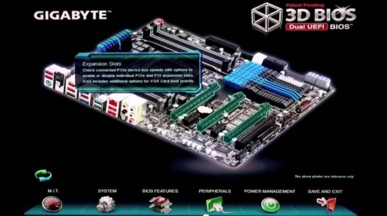 3D-s BIOS a Gigabyte-tól kép