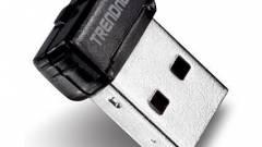 TRENDnet: szupermini, vezeték nélküli, N-nes adapter kép