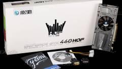 Galaxy GeForce GTX 460 Hall of Fame, fehérben kép