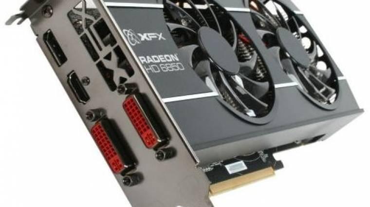 XFX Radeon HD 6850 egyedi hűtéssel kép