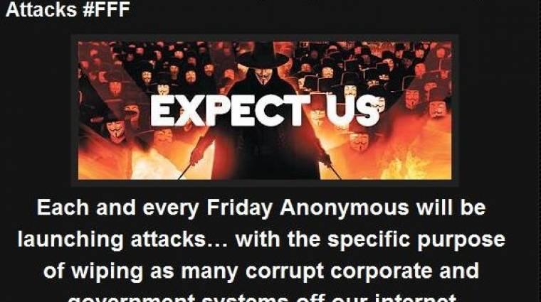 Megcsúfolt Alaptörvény - feltörte az Alkotmánybíróság honlapját az Anonymous kép