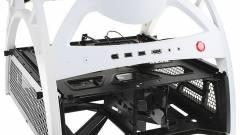 Antec Skeleton: nyitott PC-ház, fehérben kép