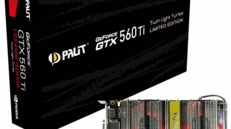 GeForce GTX 560 Ti Twin Light Turbo a Palit gyárából kép