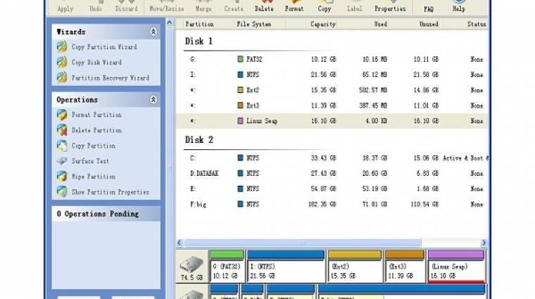 MiniTool Partition Wizard Home Edition v5.2 kép