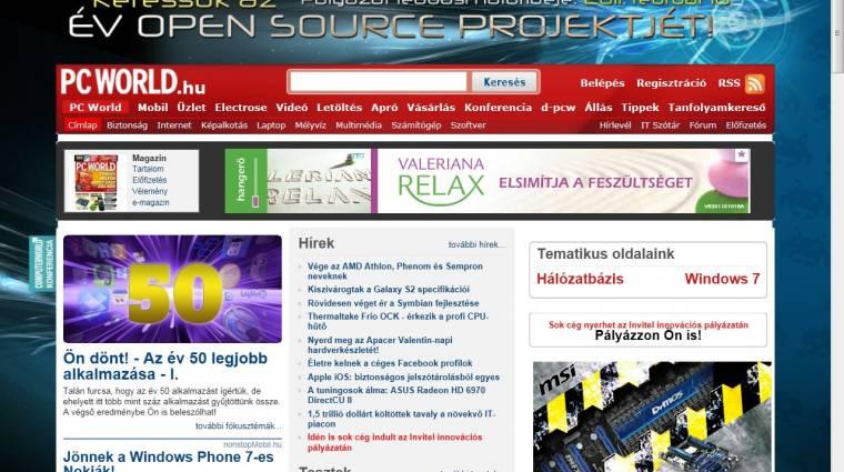 Napi tipp: Internet Explorer 9 RC - fülek külön sorban kép